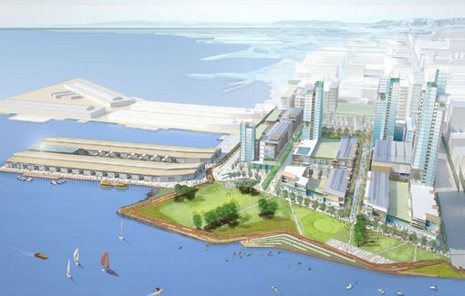One version of the Giants project shows a whole new neighborhood across from AT&T Park