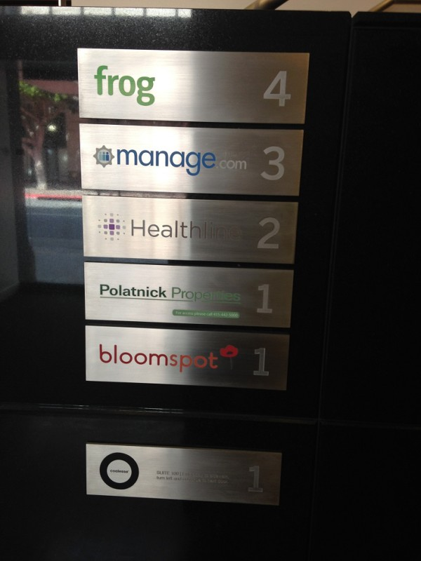 The nameplate at 660 Third doesn't show a lot of PDR companies