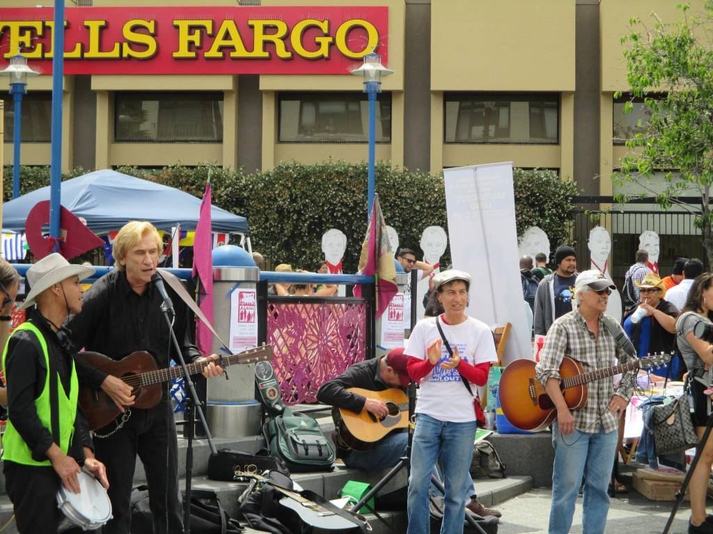 Musicians Against Displacement sings to the crowd