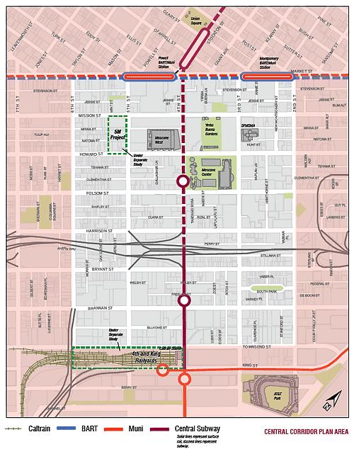 The Central Corridor map