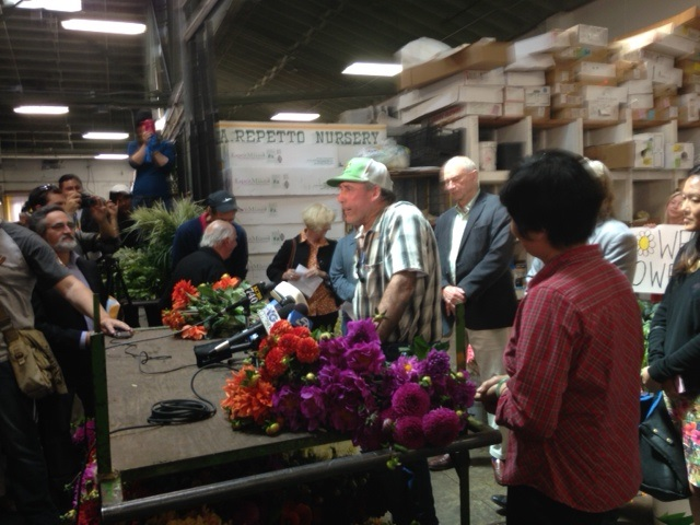 David Repetto is suing to block the sale of the Flower Mart