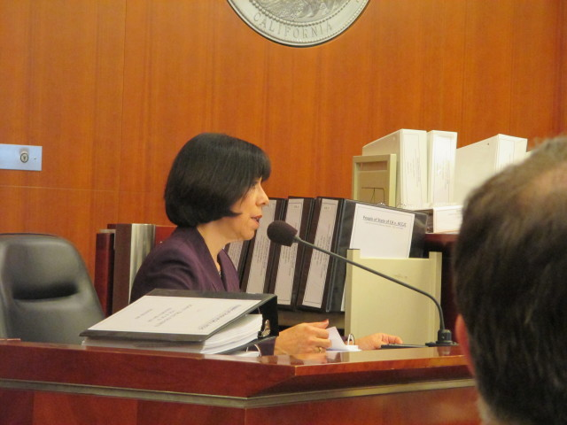 Sandra Serrano, head of the accrediting team, wanted a lower-level sanction