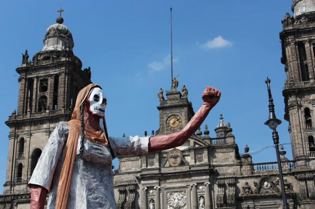 At the Zocalo, remembering the 43 students kidnapped and allegedly murder by drug cartels
