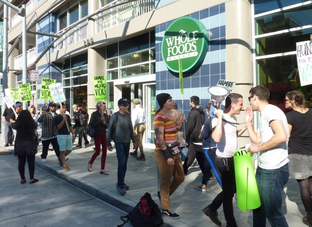 Picketers on the line at Whole Foods