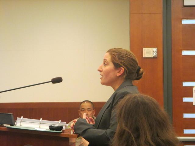 Deputy City Attorney Sara  Eisenberg presented the case against the ACCJC
