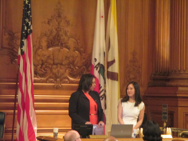 London Breed takes the gavel from Katy Tang