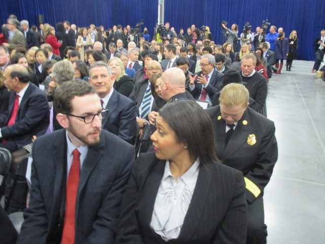 Board President London Breed and Sup. Scott Wiener, who is on two key committees, chat at the mayor's state of the city address