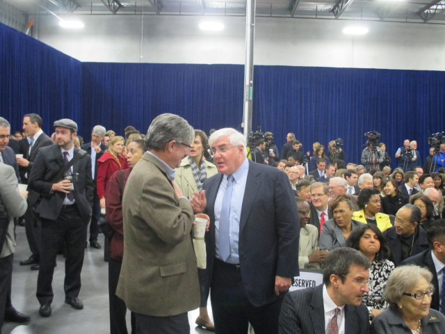 Mayor Lee's pal, waterboarding fan Ron Conway, chats with the Chron's C.W. Nevius at the State of the City speech