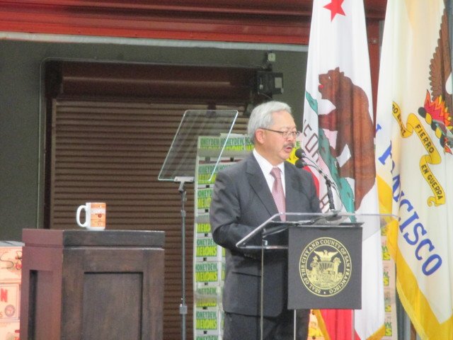 Mayor Lee presents his glowing vision of the city