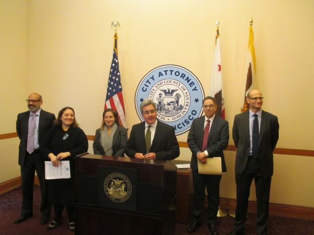 The legal team that beat the ACCJC: Ron Flynn, Yvonne Mere, Sara Eisenberg, Dennis Herrera, Tom Lakritz, and Matthew Goldberg
