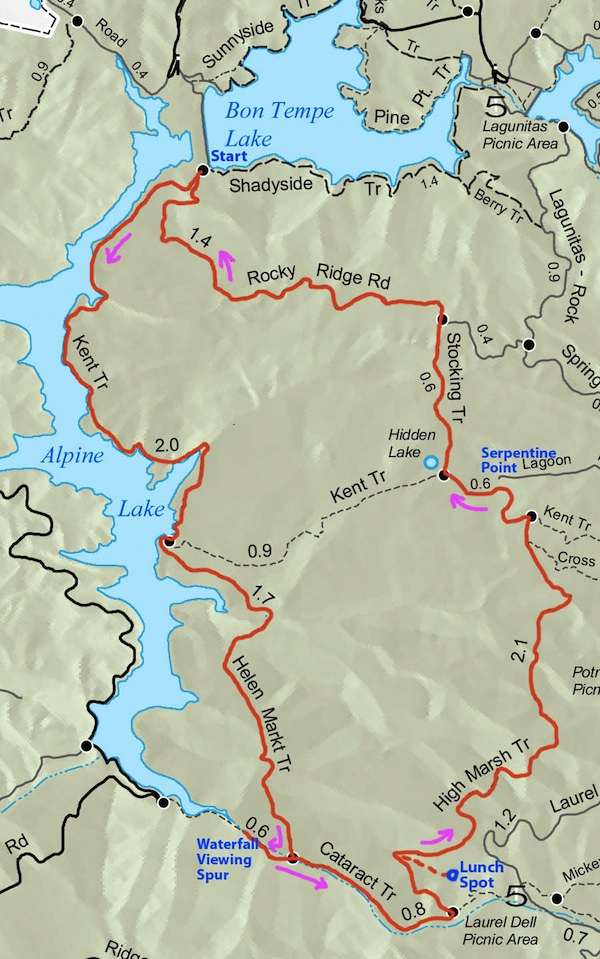 Hiking the Cataract Falls Loop Trail