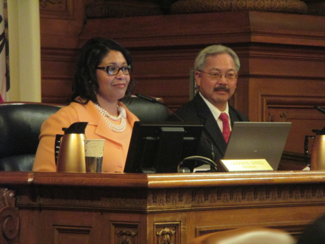 Board President London Breed and Mayor Ed Lee are all in favor of Sanctuary city -- in theory