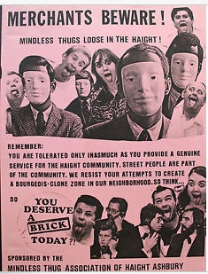 The Mindless Thugs used bricks, not blockades. Irony of all time: This poster is for sale on Ebay for $80