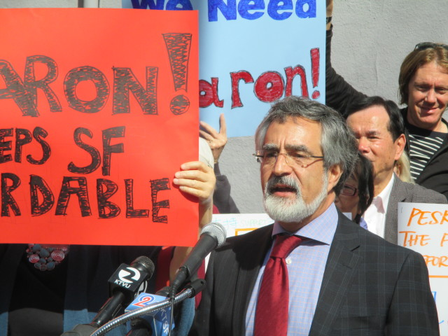 Peskin will clearly have enough money to make his case