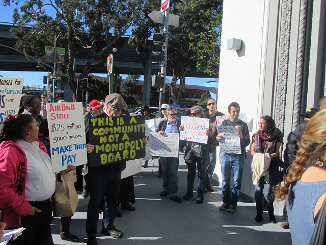 A protest against Airbnb: The mayor's measure isn't going to quell the community anger