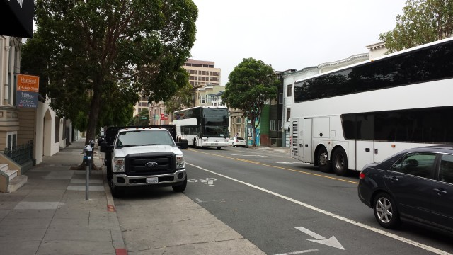 Where do tech buses park? Anywhere they want, apparently