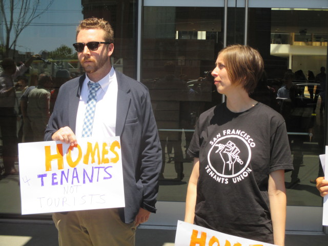 Landlords (Charlie Goss from the Apartment Association) and tenants (Jennifer Fieber from the SF Tenants Union) were united, for once, in favor of regulating Airbnb