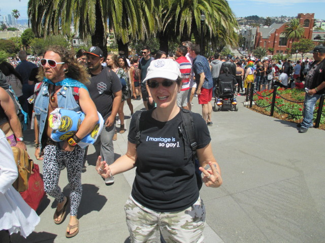 """Megan Coffey of Cotati thinks marriage is gay -- and her her case, sadly, so is divorce. """"But that's one of the rights we're fighting for."""""""