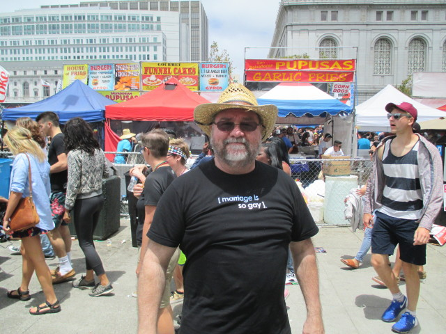Jed Johnson of San Rafael isn't married -- but he knows it's gay