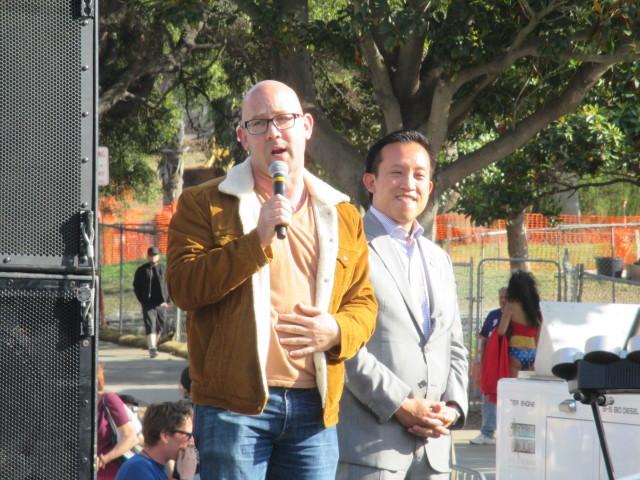 Mandelman and Chiu address the Trans March
