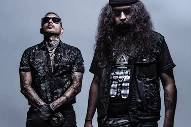 LA cholo-goth electro-punk duo PRAYERS join Cold Cave and Light Say,um for a wild night of dark, live music at Mezzanine.