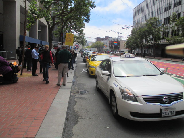 Cab drivers protest outside of Uber HG in SF -- but they aren't the only ones upset by the company
