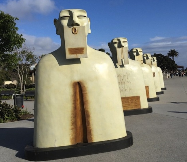 """Our SilencesNuestros Silencios"" by sculptor Rivelino come to Ferry Plaza (Thu/23) as part of the weeklong Mex I Am festival."