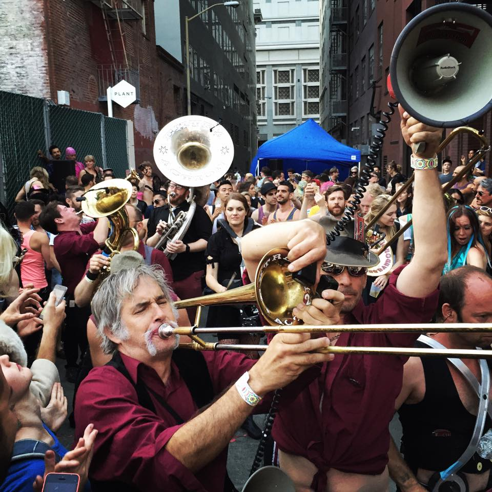 Extra Action Marching Band at Hard French. Photo by Ruha Devanesan