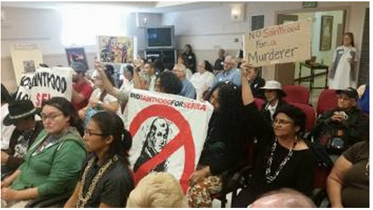 Protesters explain why Junipero Serra should not be a saint