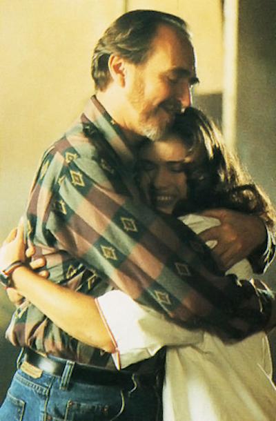 A hug for Nancy: Director Wes Craven and actor Heather Langenkamp