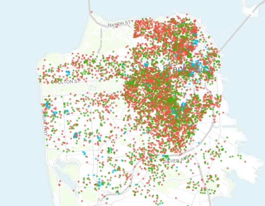 This interactive map shows which Airbnb units are actually spare rooms and which are entire buildings