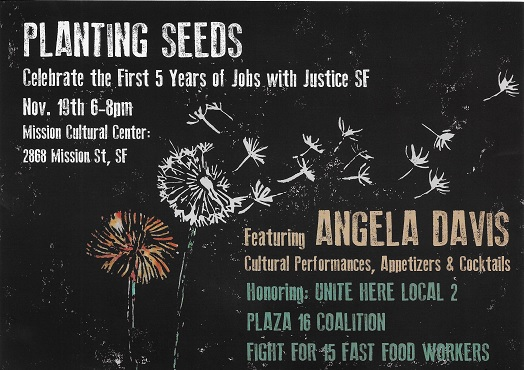 An event not to be missed: Angela Davis helps celebrate five years of Jobs with Justice