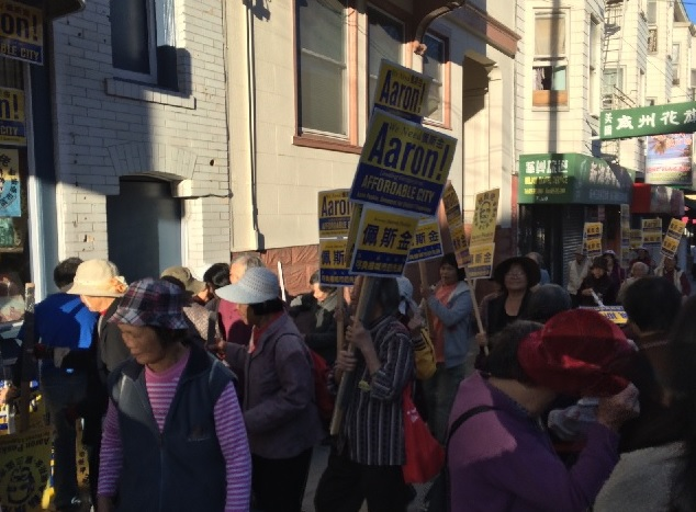 Peskin supporters work to get out the vote in Chinatown