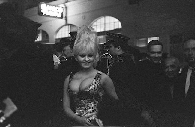 SF nightlife legend Carol Doda, always the center of attention.