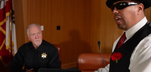 A lowrider lawyer questions a police officer in the new movie