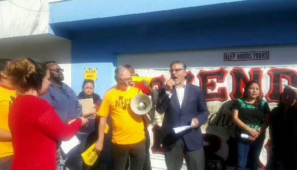 Sup. John Avalos speaks out against the pending eviction of another Bayview family