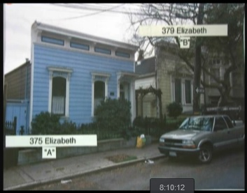 One of these two houses has protection as an historic resource; the other one, which looks exactly the same, could be demolished