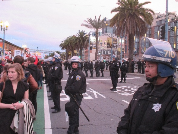 So many cops, so little threat