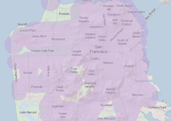 """The shaded areas are """"priority development areas,"""" pretty much the whole city"""