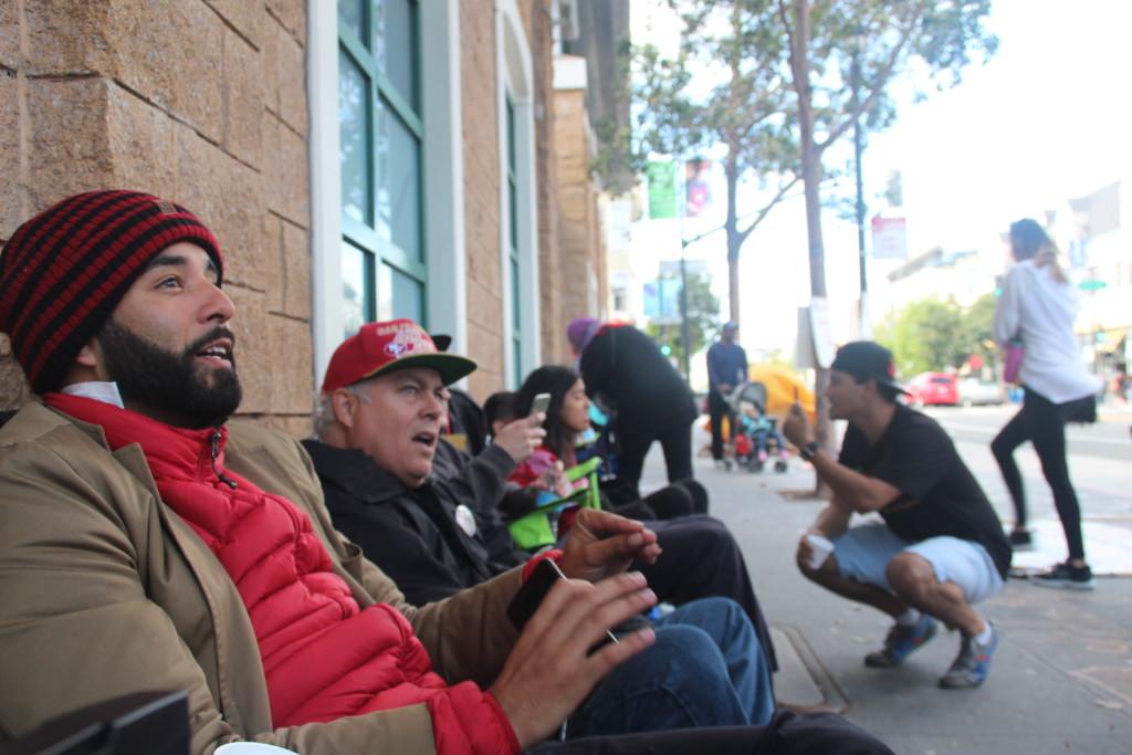 Day 3 of the hunger strike outside Mission Police Station. Photo By Sana Saleem