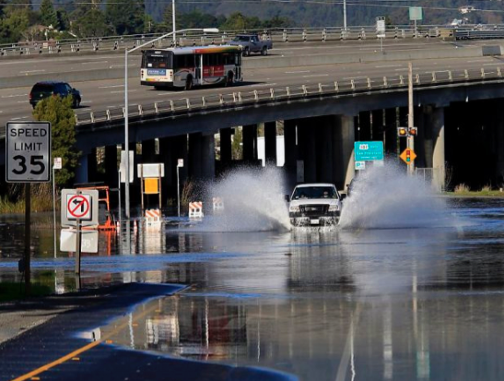 Again, totally not to scare you but this Marin's Richardson County flooding due to sea level rise. Photo courtesy Time to Lead on Climate
