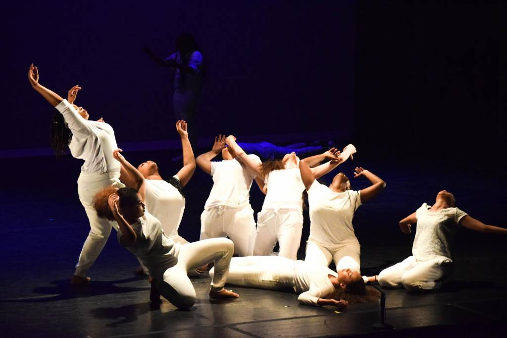 Grief comes in waves in Destiny Arts Center and Embodiment Project's new full-length theatrical collaboration. Photo: Layeelah Muhhamad