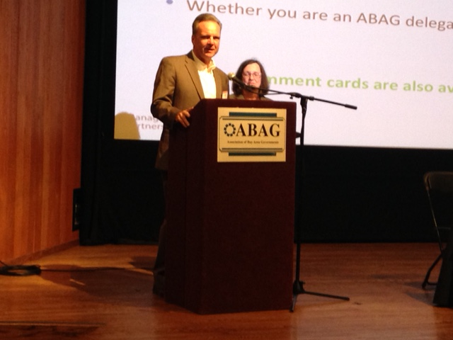 MTC Chair Dave Cortese and ABAG President Julie Pierce