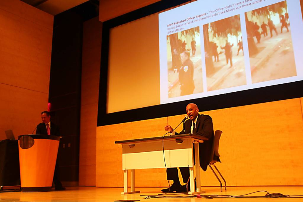 Ken Williams & Jeff Adachi at the San Francisco Public Defenders Summit