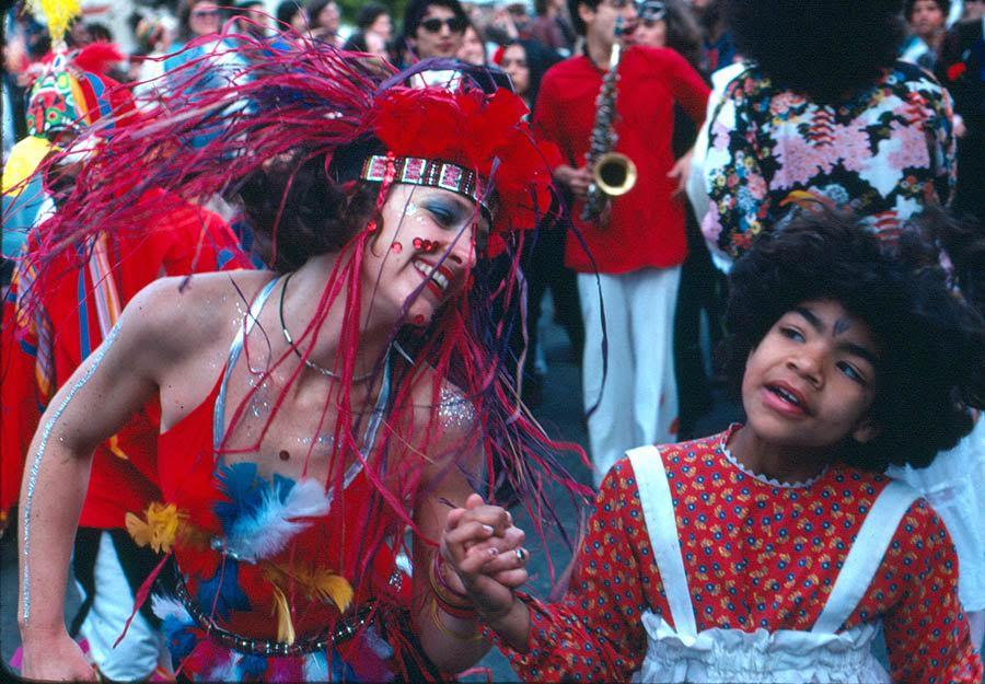 First year revelers at SF Carnaval '78. Photo: Lou Mattheis