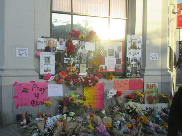 Memorial at 18th and Castro