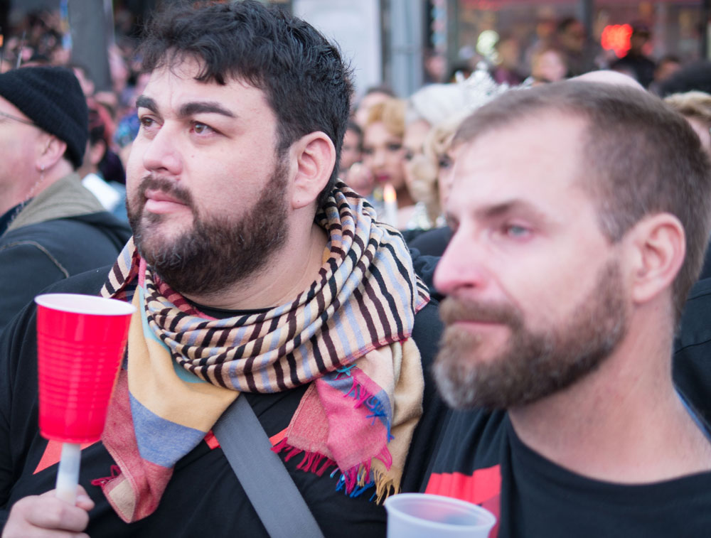 A feeling of mourning permeated the crowd that gathered in the Castro. Photo by David Schnur.
