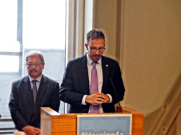 Ben Metcalf, the Guv's housing guy, and Mayor Ed Lee talk about limiting local control over development