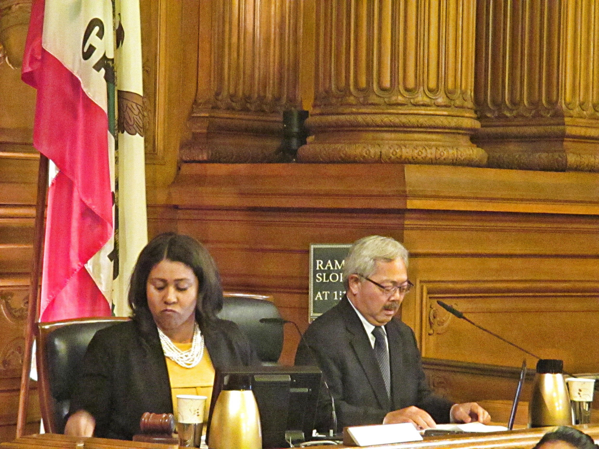 Sup. London Breed came down on the mayor's side over and over again