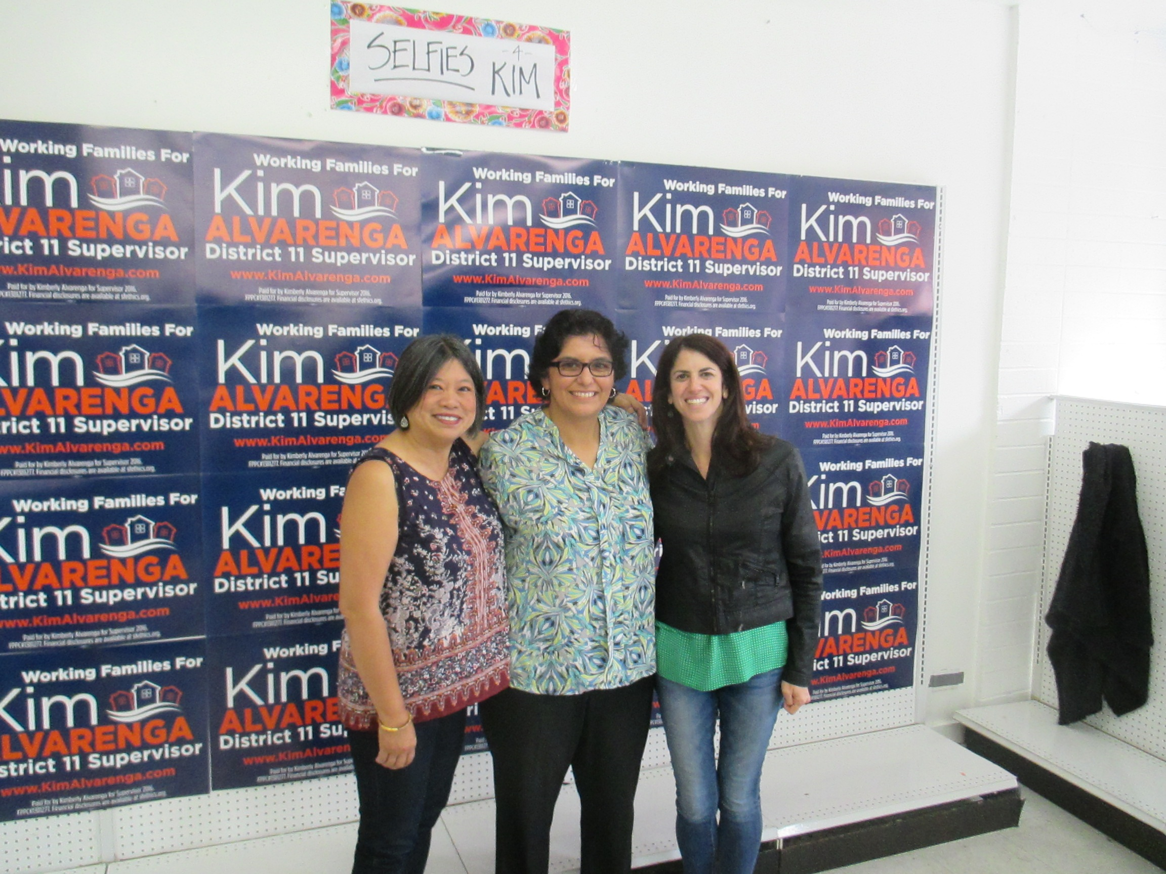 Sandy Fewer (d1), Kimberly An lvarenga (D11) and Hillary Ronen (D9) are part of the progressive slate for supe.